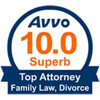 Avvo Top attorney for family law and divorce