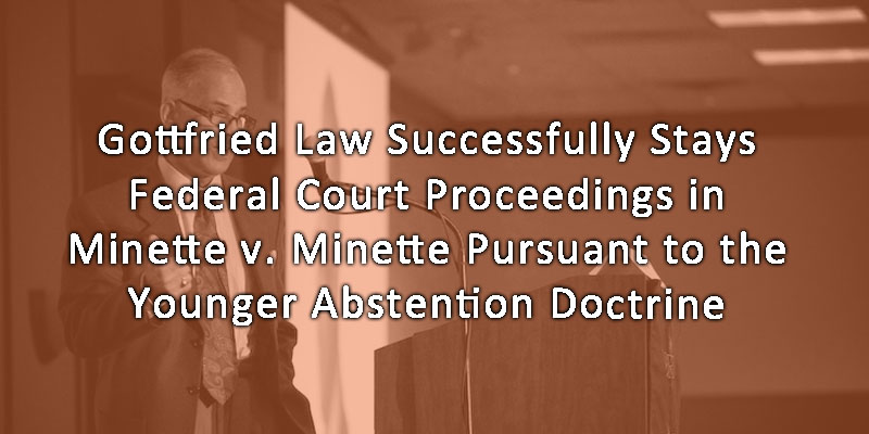 Gottfried Law Hague Convention Minette v Minette Younger Abstention Docterine